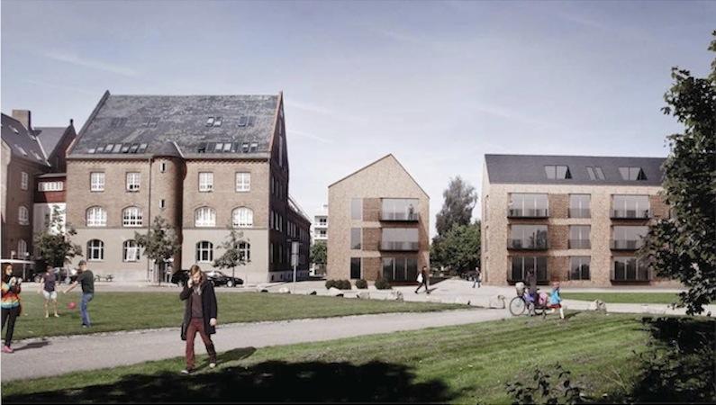 Der bliver ikke græsplæner, men P-pladser på arealet syd for de nye huse