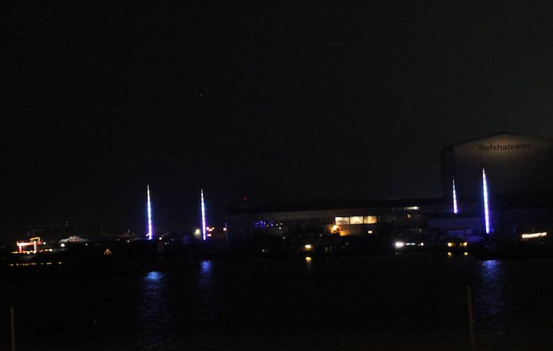 Lyskunst på Refshaleøen