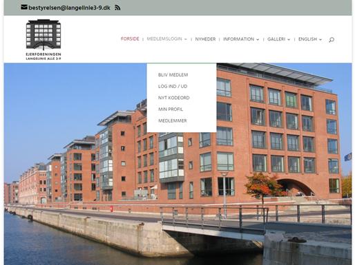 Hjemmesidens nye struktur